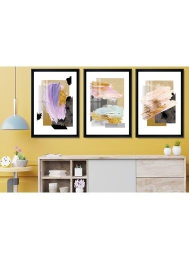 Çerçeve Home  Color Painting Siyah Çerçeve Tablo Seti Siyah